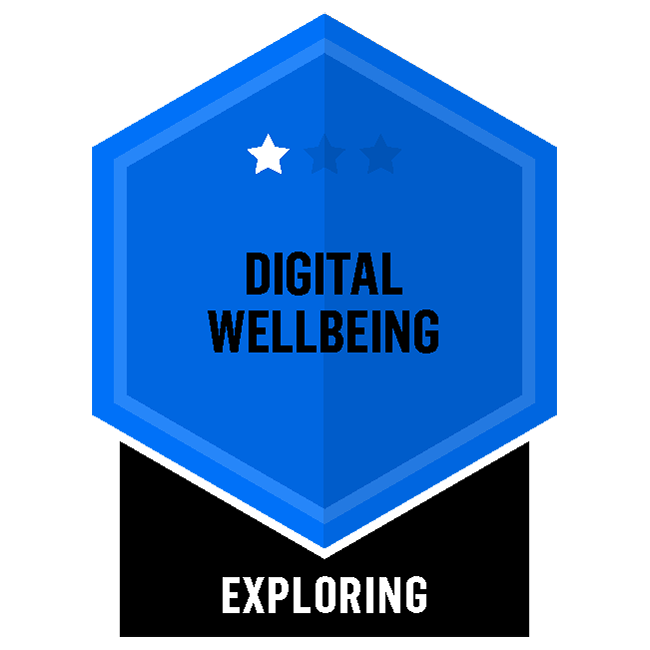 Badge for Digital Wellbeing - Exploring