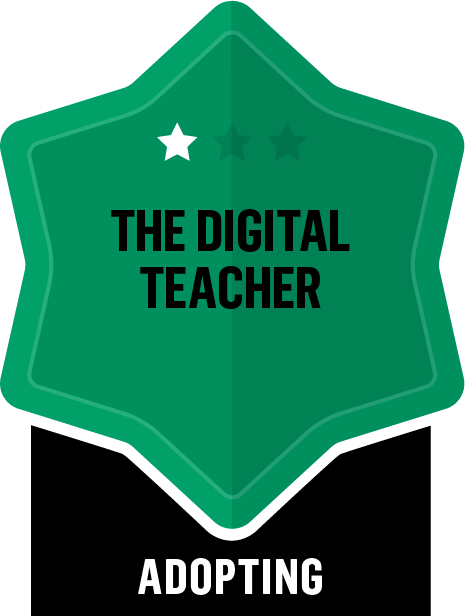 Badge for The Digital Teacher - Adopting