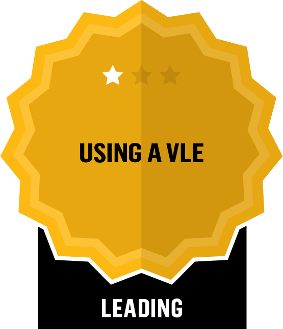 Badge for Virtual Learning Environment - VLE - Leading