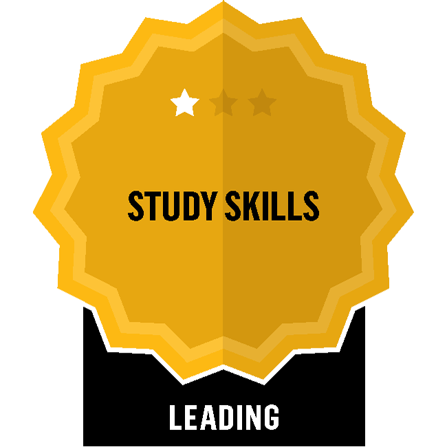 Badge for Study Skills - Leading