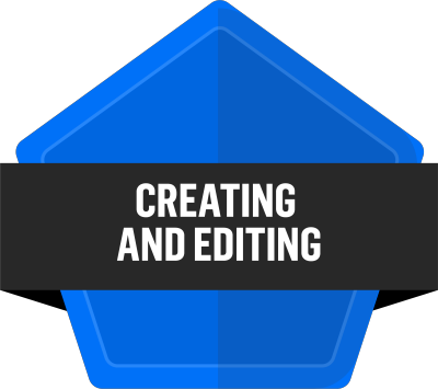 Badge for Creating and editing