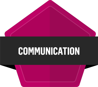 Badge for Communicating