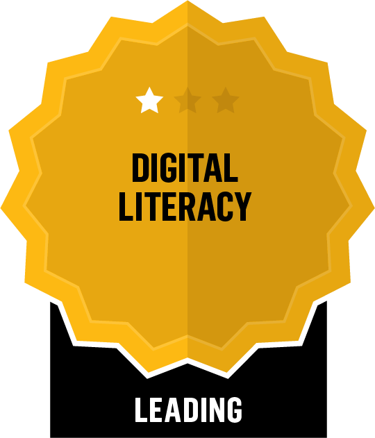 Badge for Digital Literacy - Leading