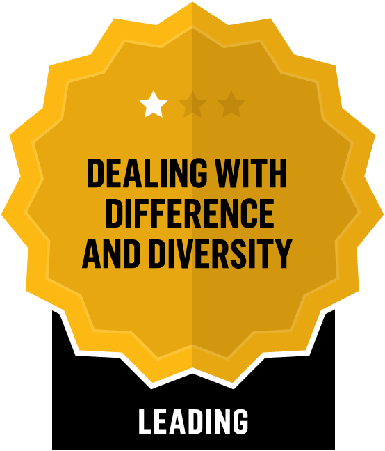 Badge for Dealing with Difference and Diversity - Leading