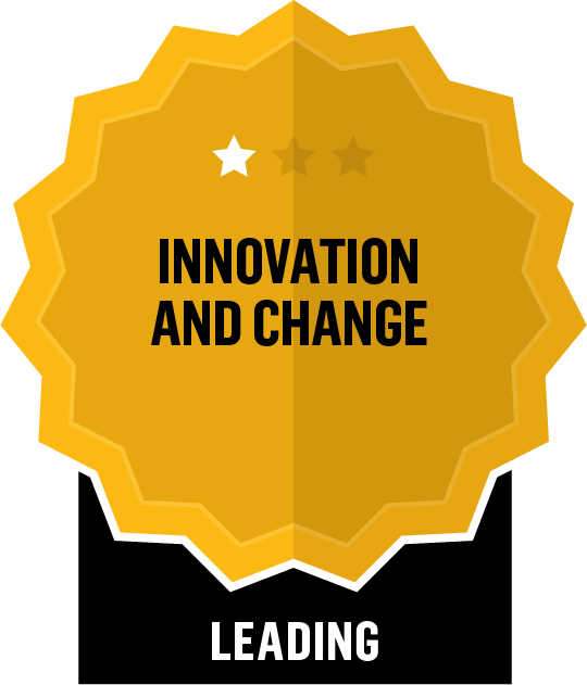 Badge for Innovation and Change - Leading