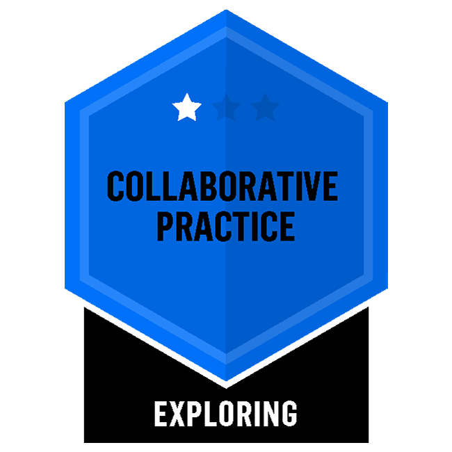 Badge for Collaborative Practice - Exploring