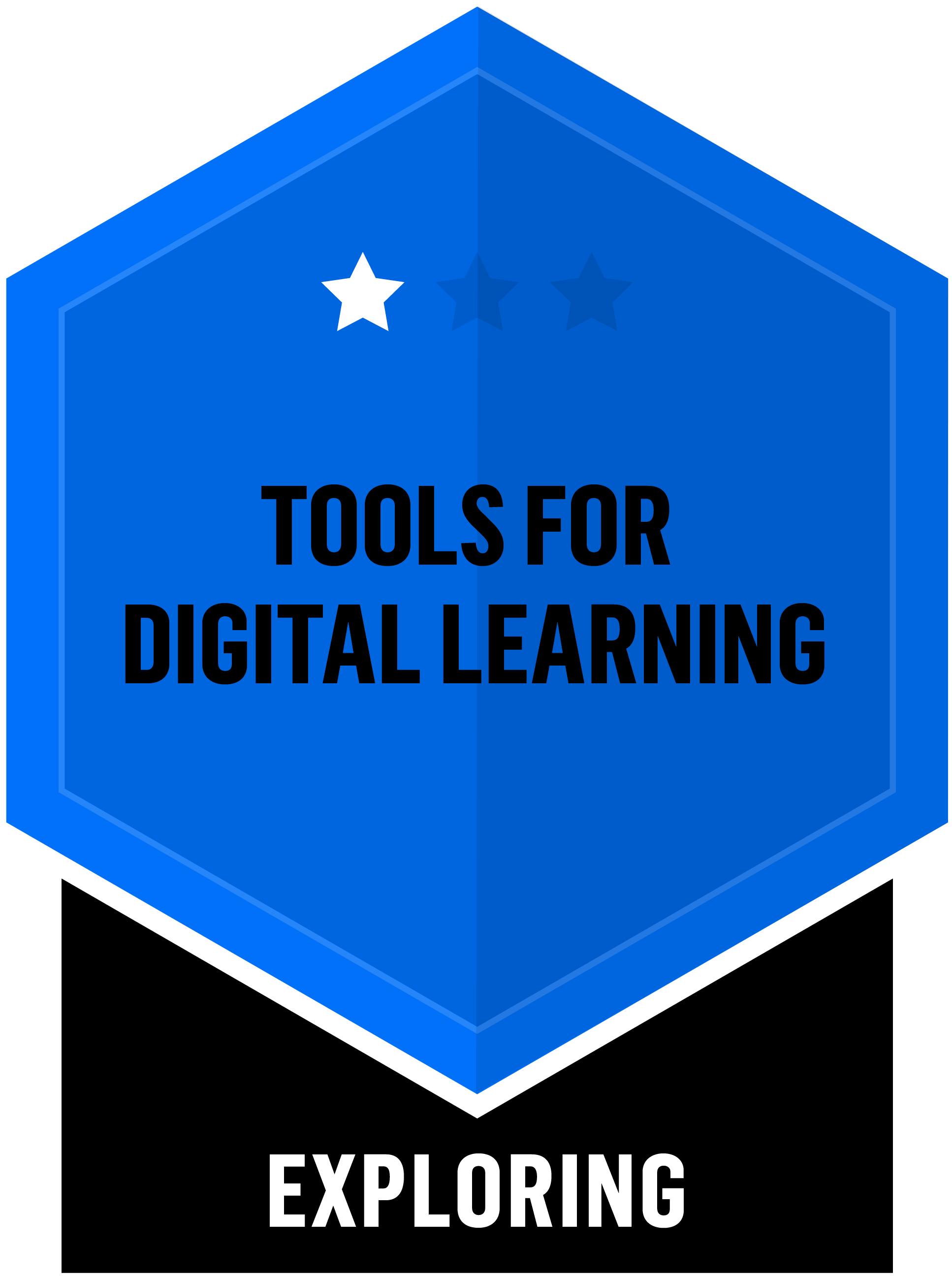 Badge for Tools for digital learning - Exploring