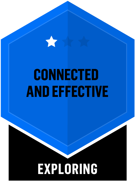 Badge for Connected and Effective - Exploring