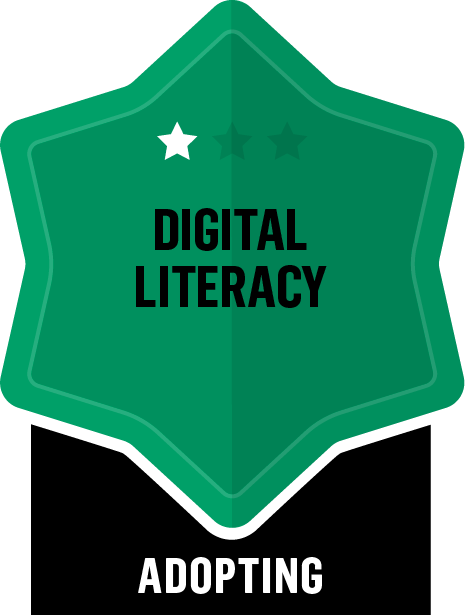 Badge for Digital Literacy - Adopting