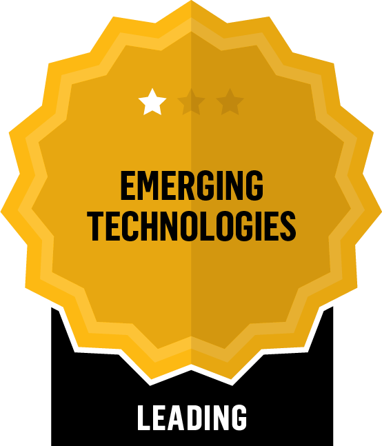 Badge for Emerging Technologies - Leading
