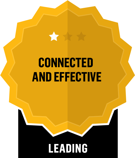 Badge for Connected and Effective - Leading