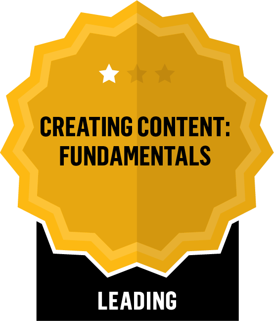 Badge for Creating Content Fundamentals - Leading