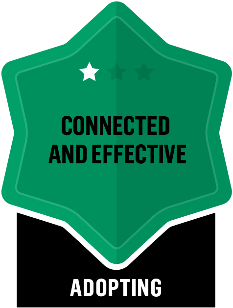 Badge for Connected and Effective - Adopting