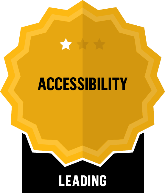 Badge for Accessibility - Leading