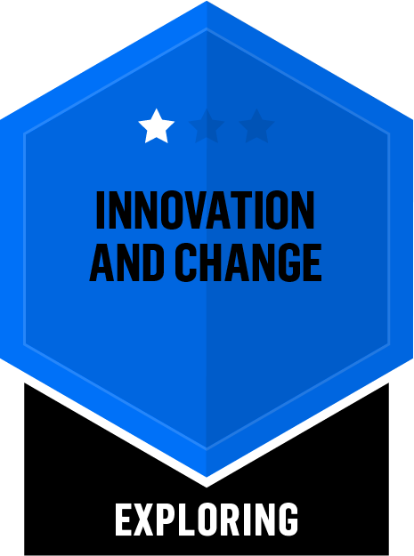 Badge for Innovation and Change - Exploring