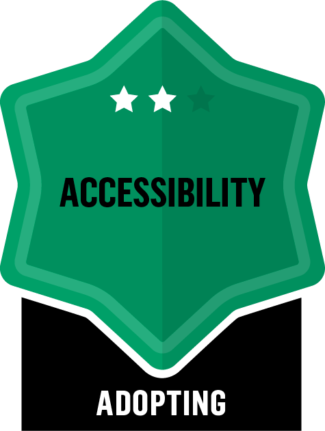 Accessibility - Adopting - 2 Star