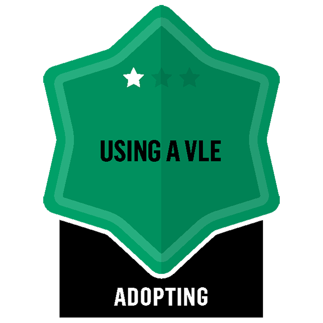 Badge for Virtual Learning Environment - VLE - Adopting