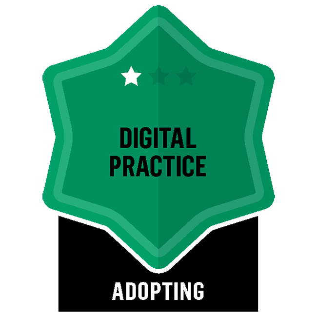 Badge for Digital Practice - Adopting