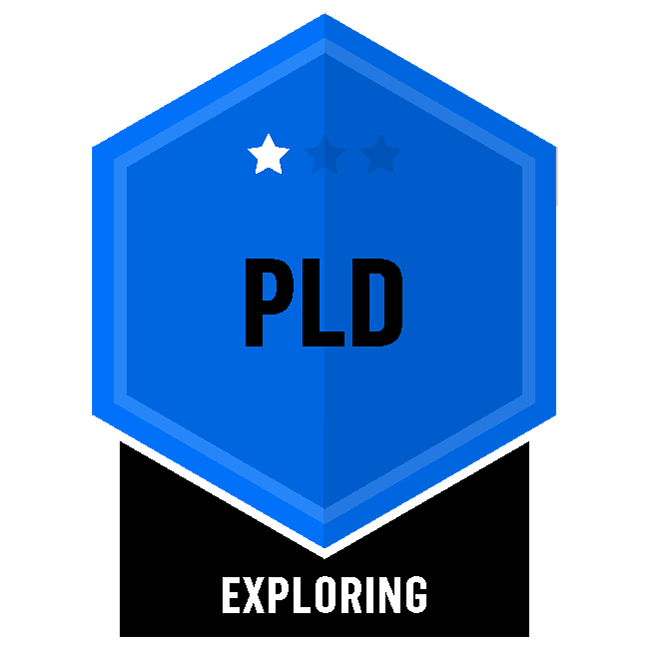 Badge for Professional Learning & Development - PLD - Exploring