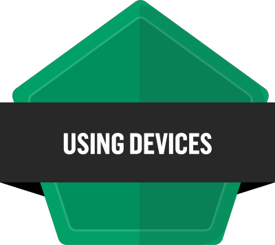 Badge for Using devices and handling information