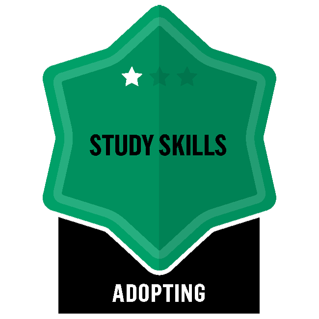 Badge for Study Skills - Adopting