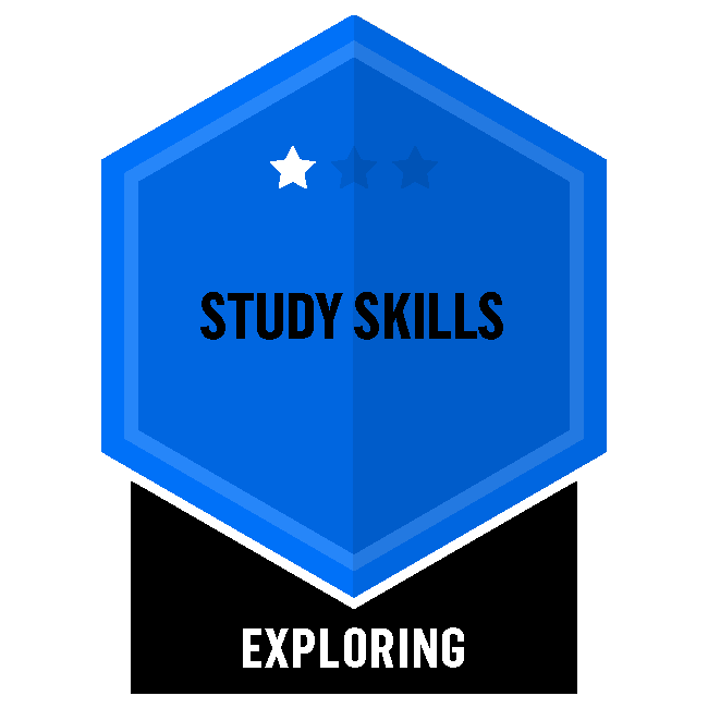 Badge for Study Skills - Exploring