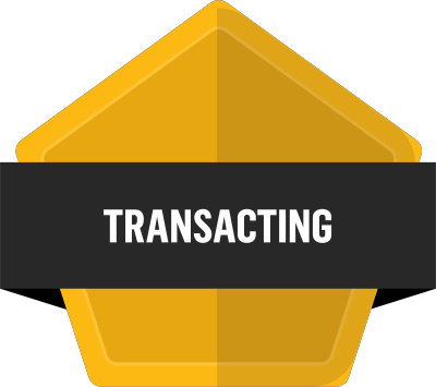 Badge for Transacting -