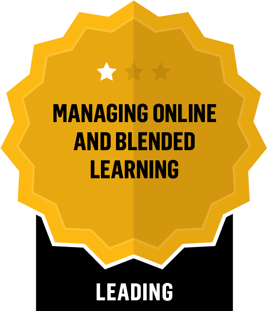 Managing Online and Blended Learning - Leading - 1 Star
