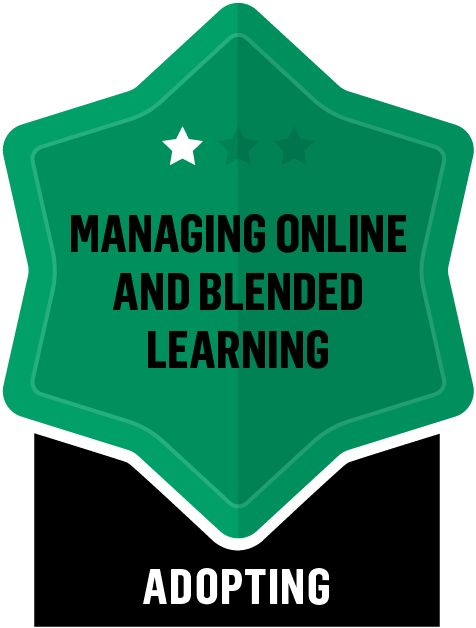 Badge for Managing Online and Blended Learning - Adopting