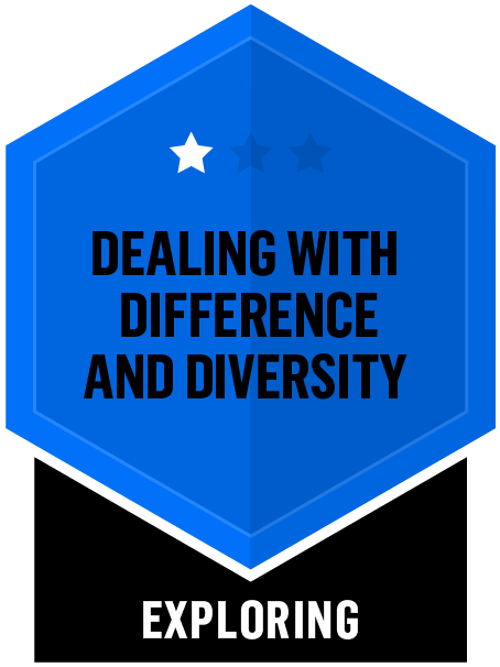 Badge for Dealing with Difference and Diversity - Exploring