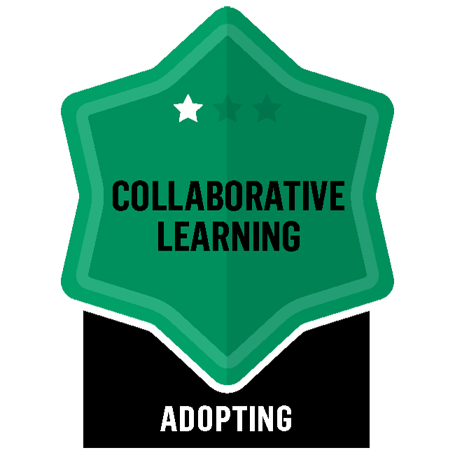 Badge for Collaborative Learning - Adopting
