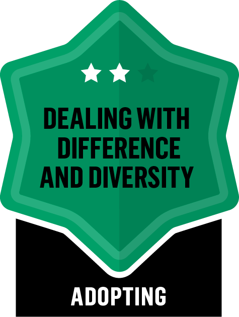 Dealing with Difference and Diversity - Adopting - 2 Star