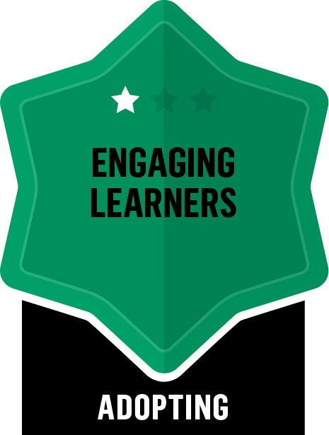 Badge for Engaging Learners - Adopting