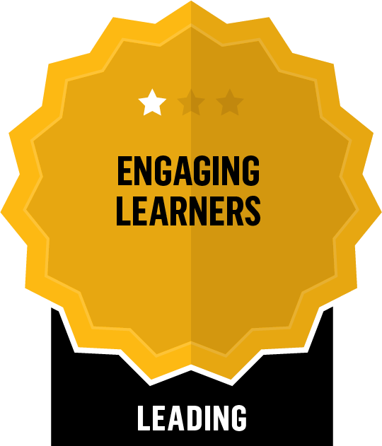 Badge for Engaging Learners - Leading