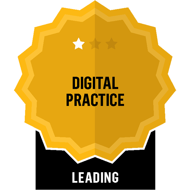 Badge for Digital Practice - Leading
