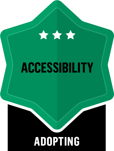 Accessibility - Adopting - 3 Star