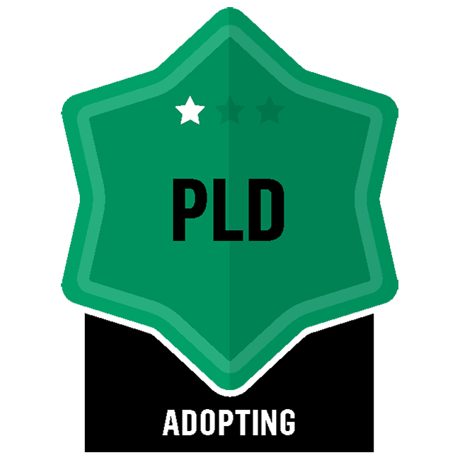 Badge for Professional Learning & Development - PLD - Adopting