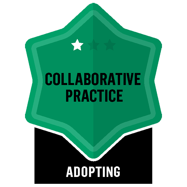 Badge for Collaborative Practice - Adopting