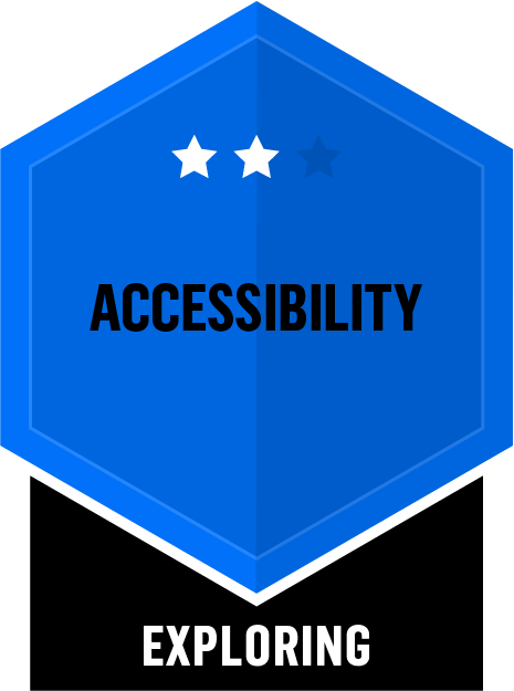 Badge for Accessibility - Exploring