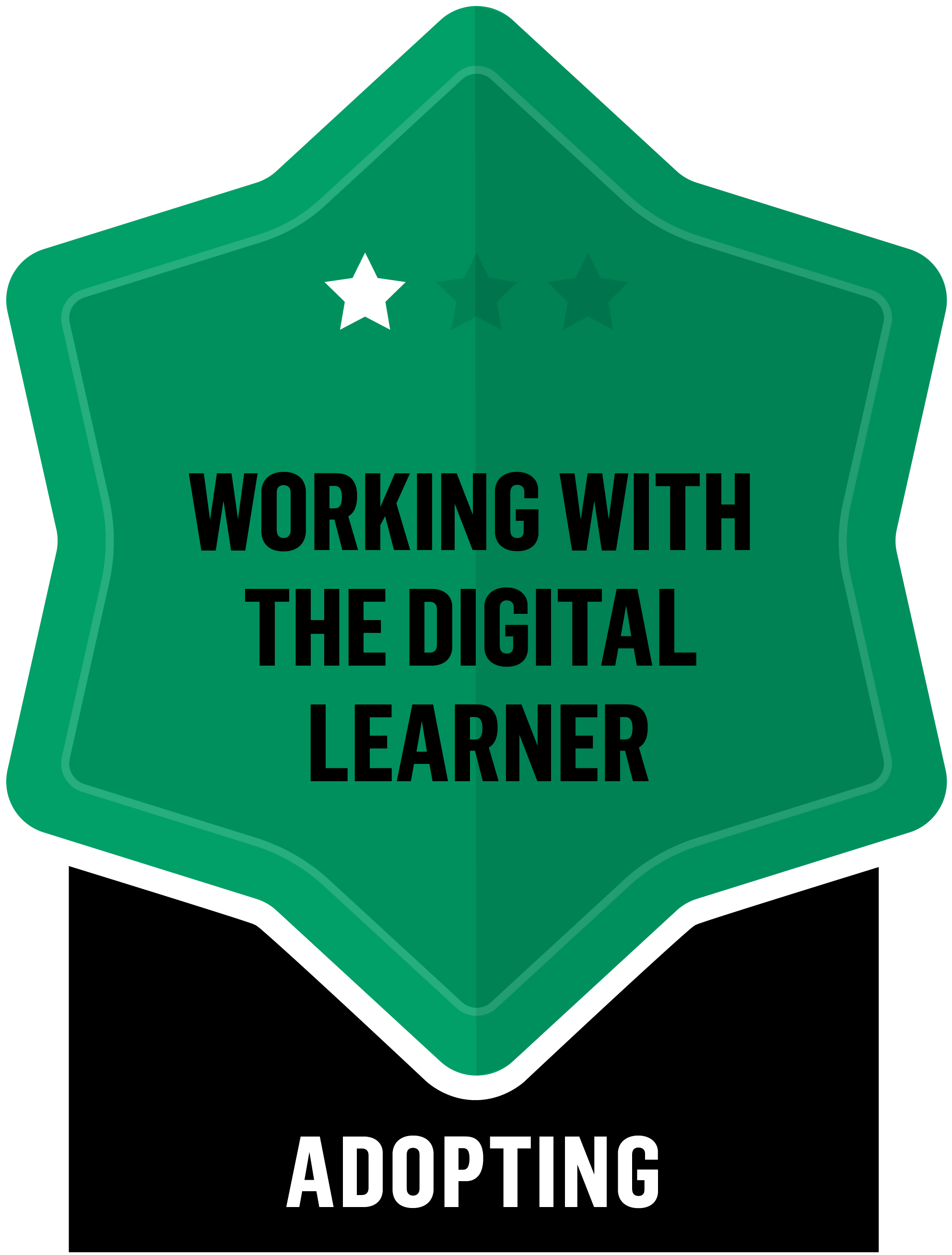 Badge for Working with the Digital Learner - Adopting