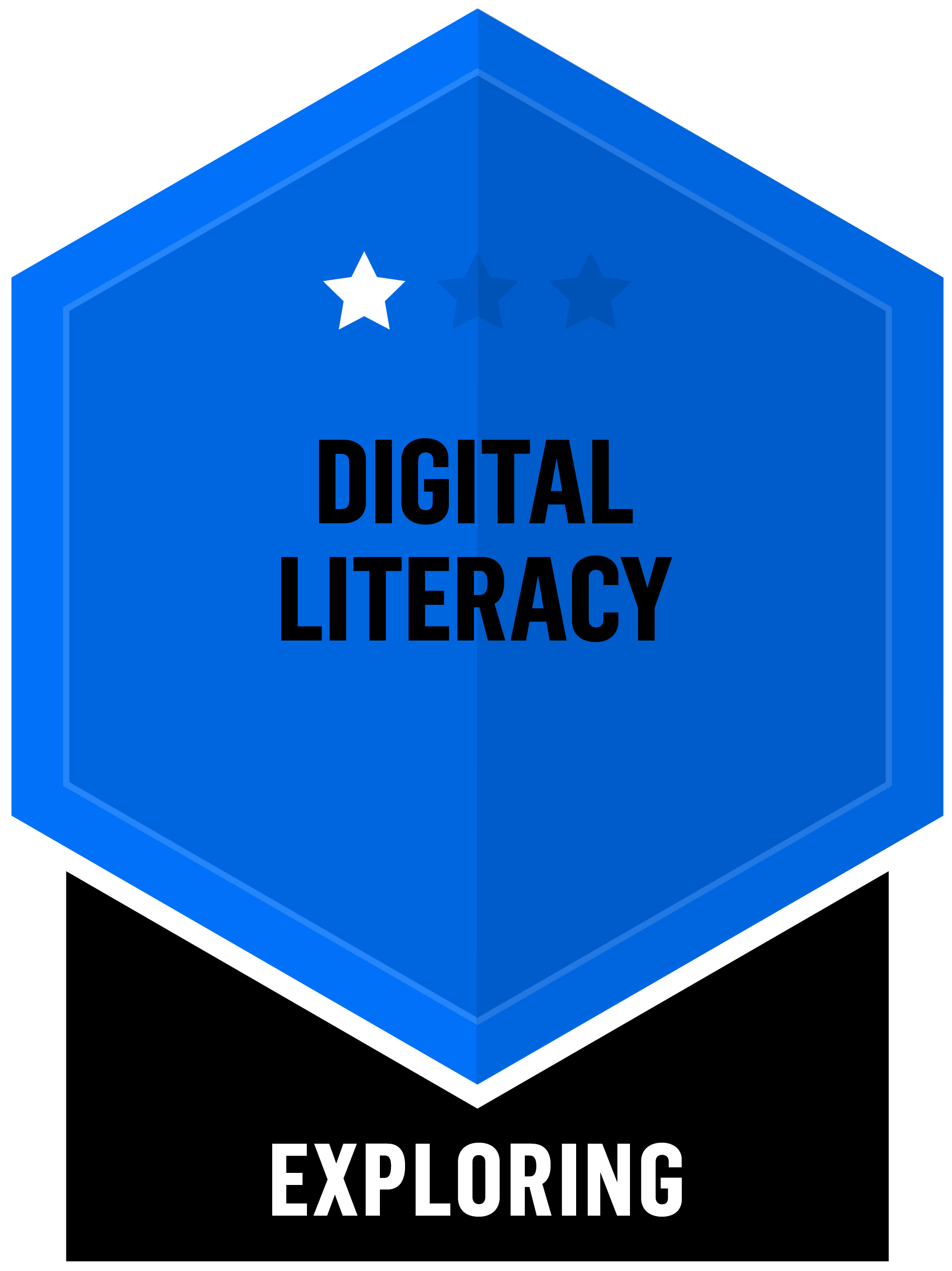 Badge for Digital Literacy - Exploring