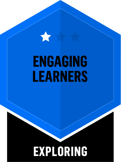Badge for Engaging Learners - Exploring