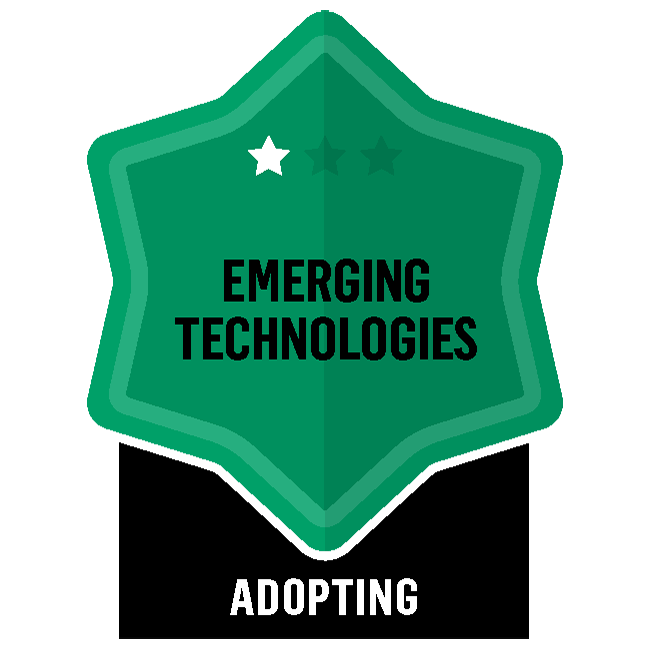 Badge for Emerging Technologies - Adopting