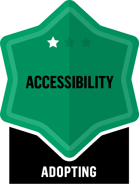 Badge for Accessibility - Adopting